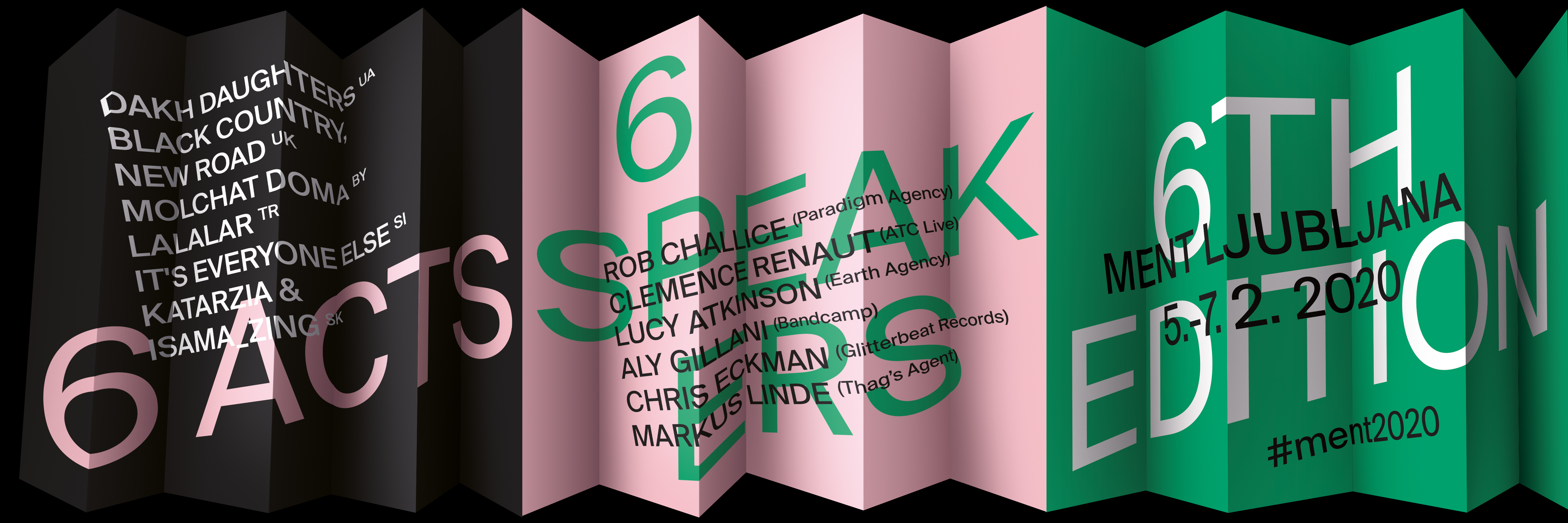 Ment 2020 – first announcement: 6 acts & 6 speakers