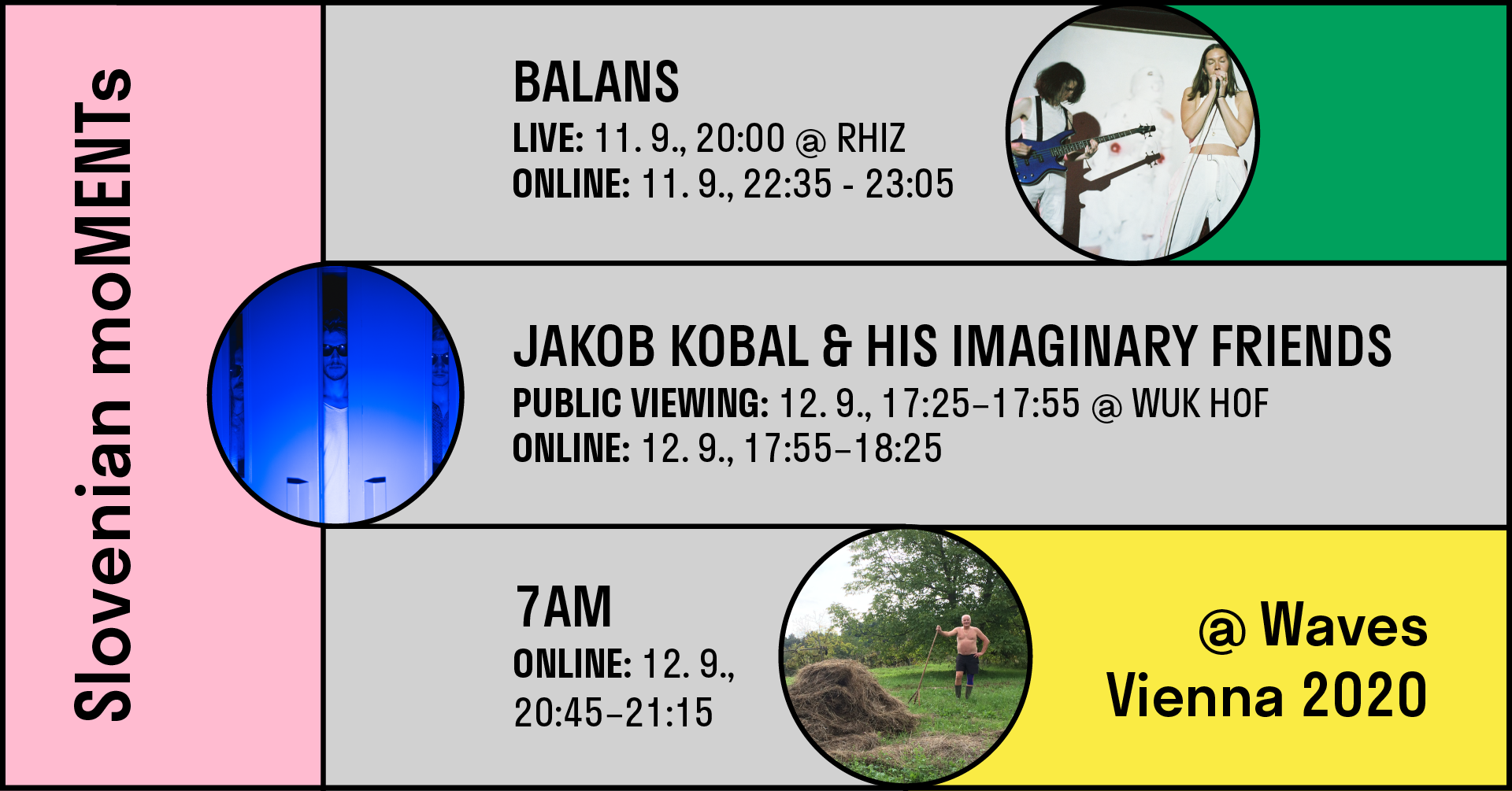 Slovenian moMENTs @ Waves Vienna, balans, jakob kobal & 7AM