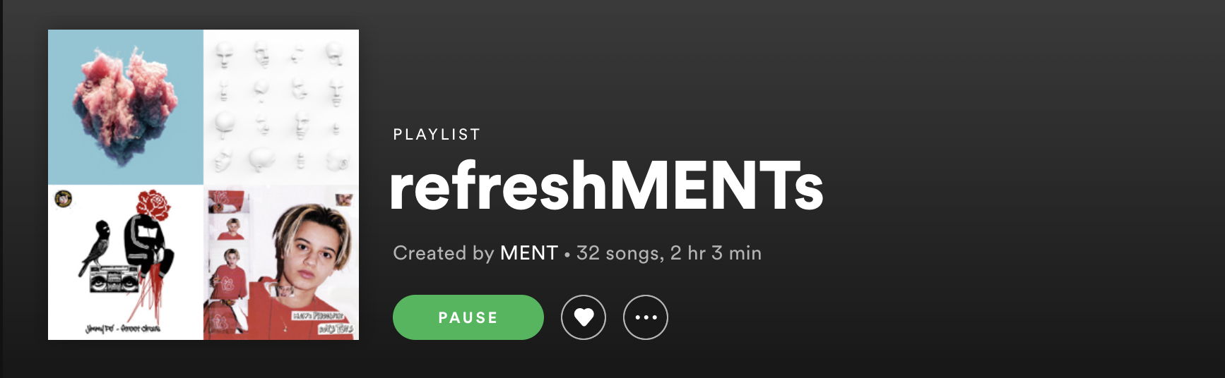 Spotify playlist screenshot.